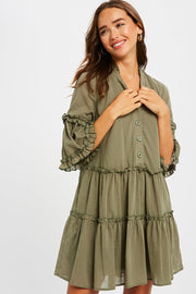 Summer Series Button Down Babydoll Dress