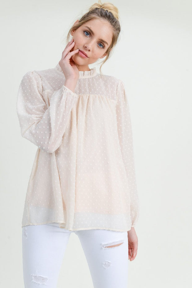 Making Memories Ruffle Neck Top