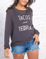 Wooden Ships Tacos And Tequila Sweater Ink White