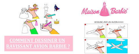 Dessiner un Avion Barbie