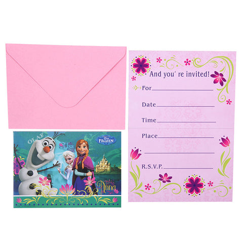 Carte Invitation Anniversaire Frozen