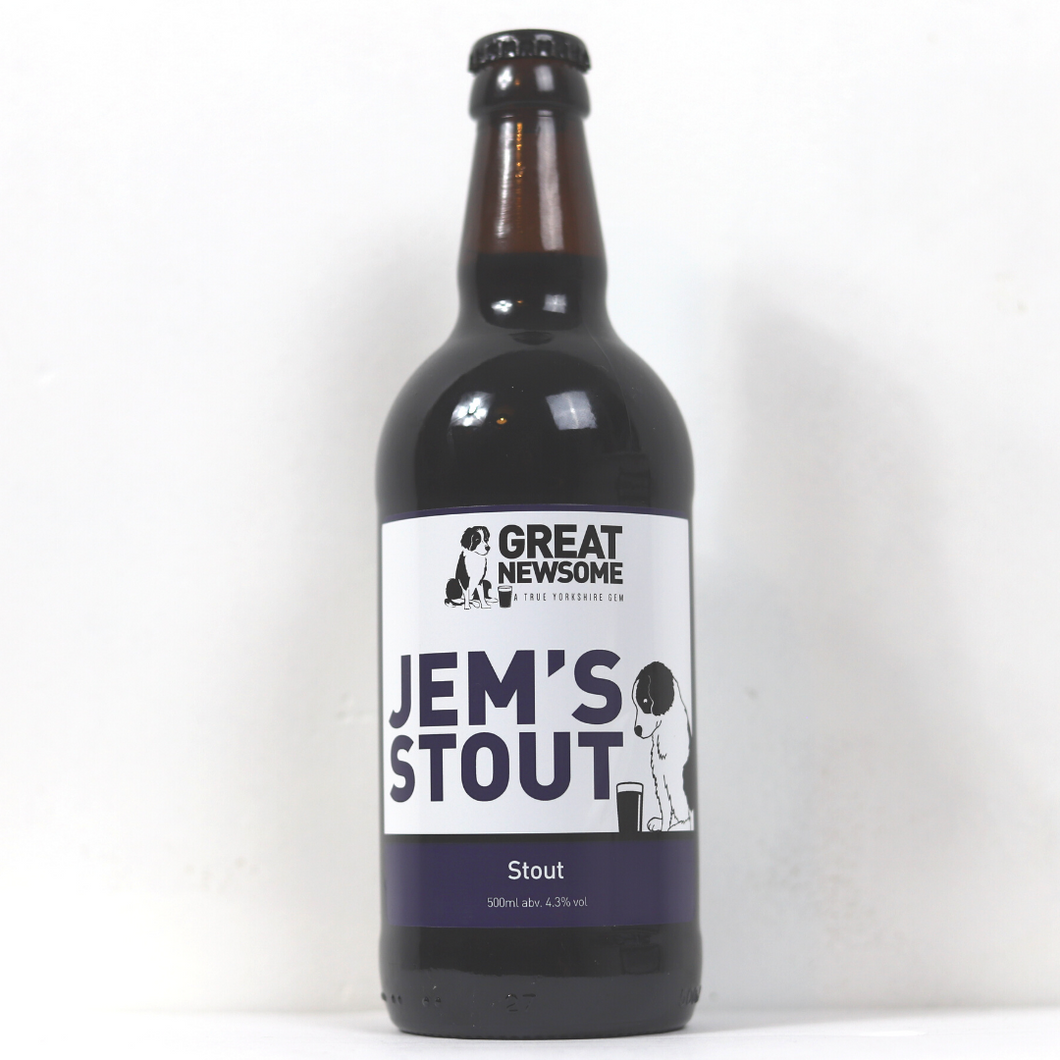 Jem's Stout - Great Newsome Brewery - 12 Pack