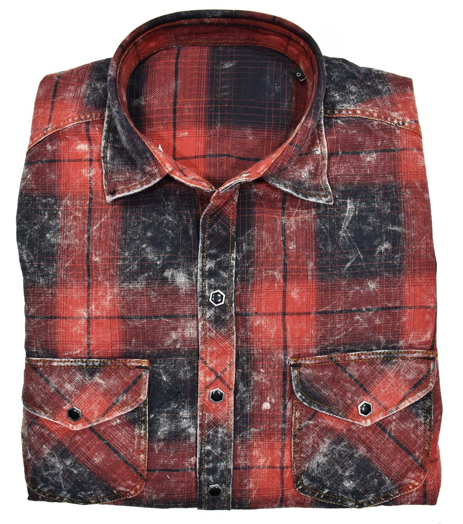 RJ022W Georgia Distressed Plaid - Marcello Sport