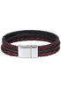 AB002 Wine Pazzo Inset Leather Bracelet