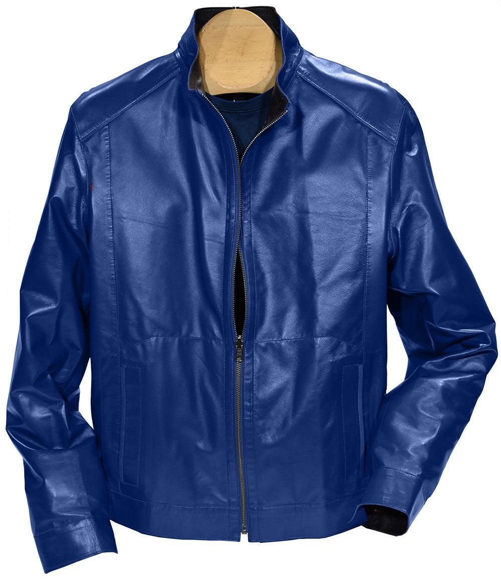 J395 Leather to Microfiber Reversible Jacket