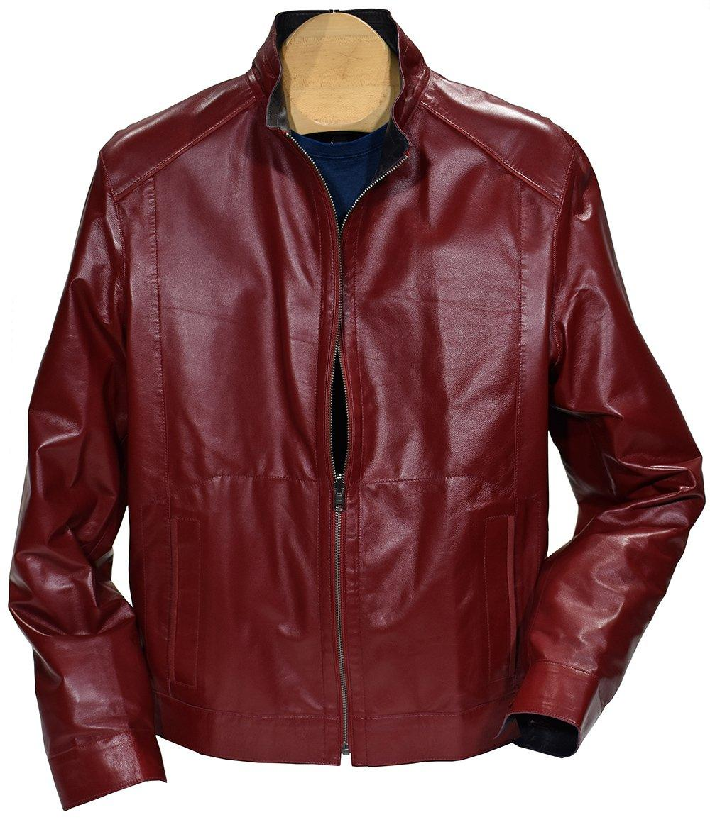 J395 Leather to Microfiber Reversible Jacket - Marcello Sport