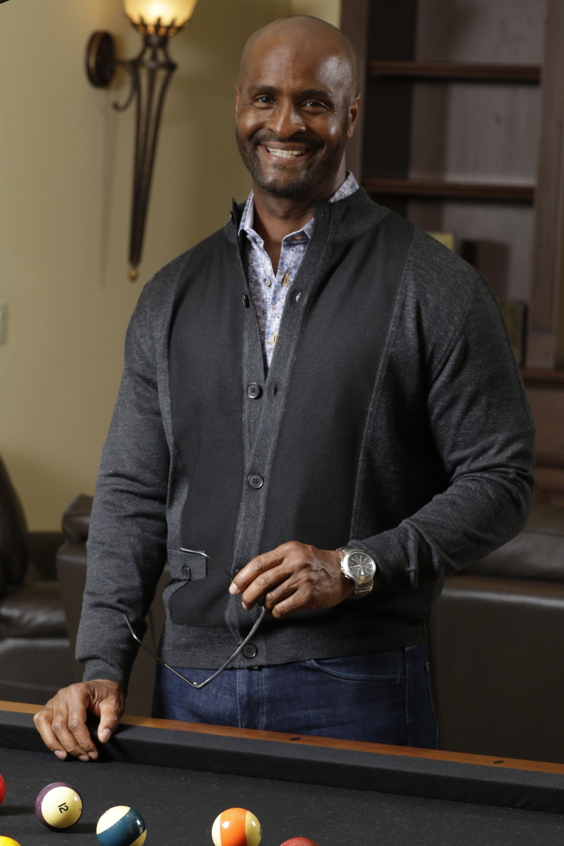 710 Panel Button Mock Cardigan - Marcello Sport