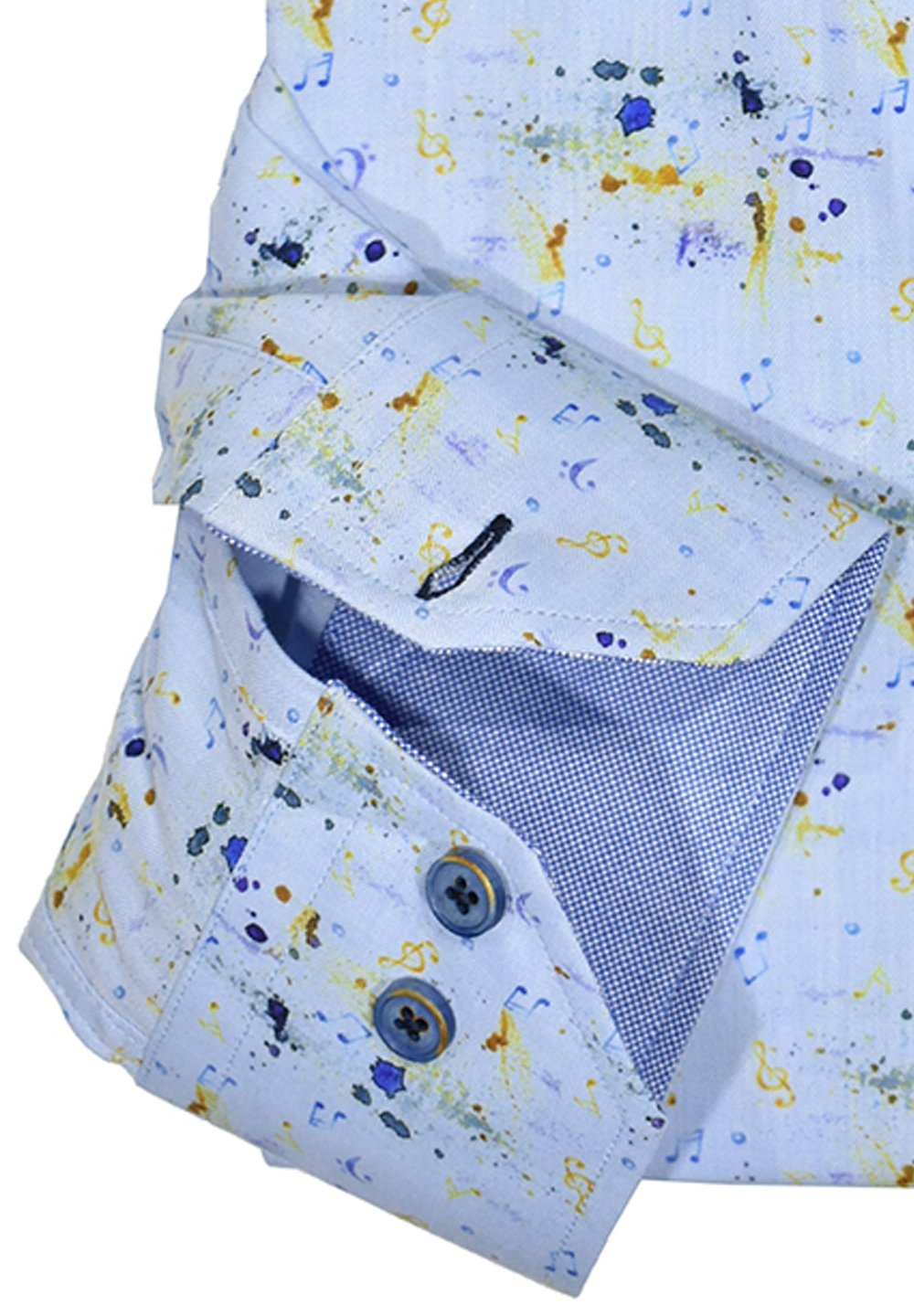 W1030 Blue Note Cotton Shirt - Marcello Sport