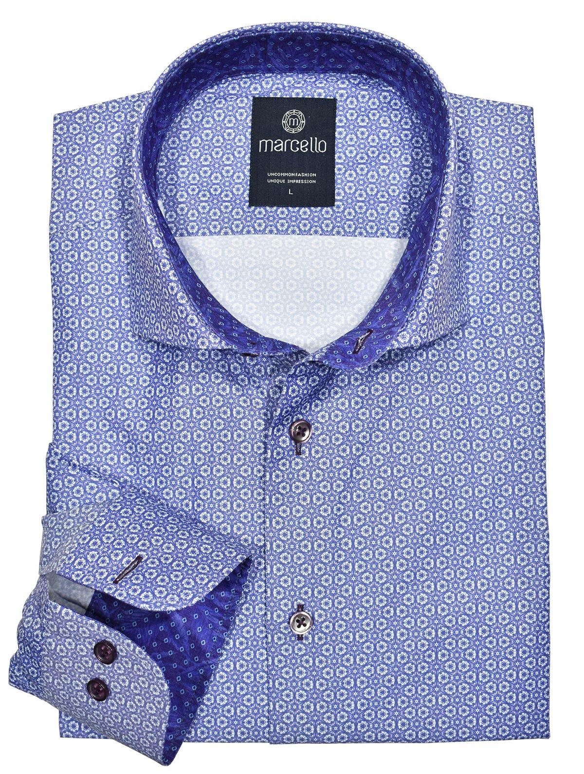 Marcello Soft Lilac Medallion Shirt. The perfect traditional medallion in fashion lilac that works perfectly with any bottoms.