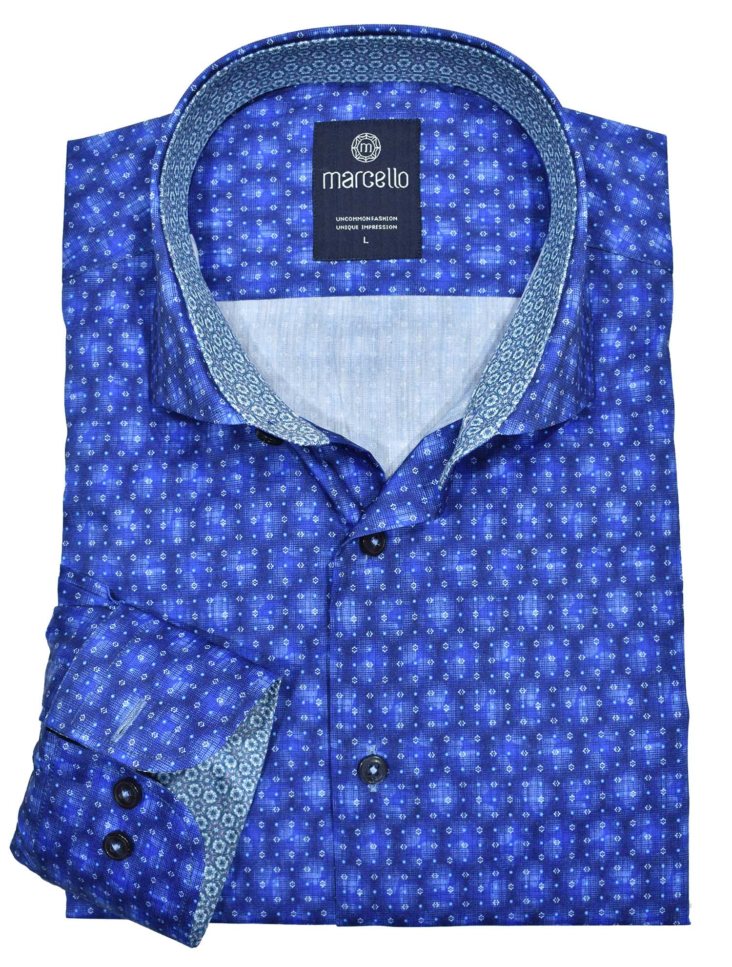 W243 Royal Azure Performance Shirt - Marcello Sport