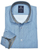 Marcello Sport Classic medallion pattern in a soft sky blue with a hint of aqua coloration.  Looks fantastic with a pair of jeans or many colors of pants.  Sky Medallion Shirt