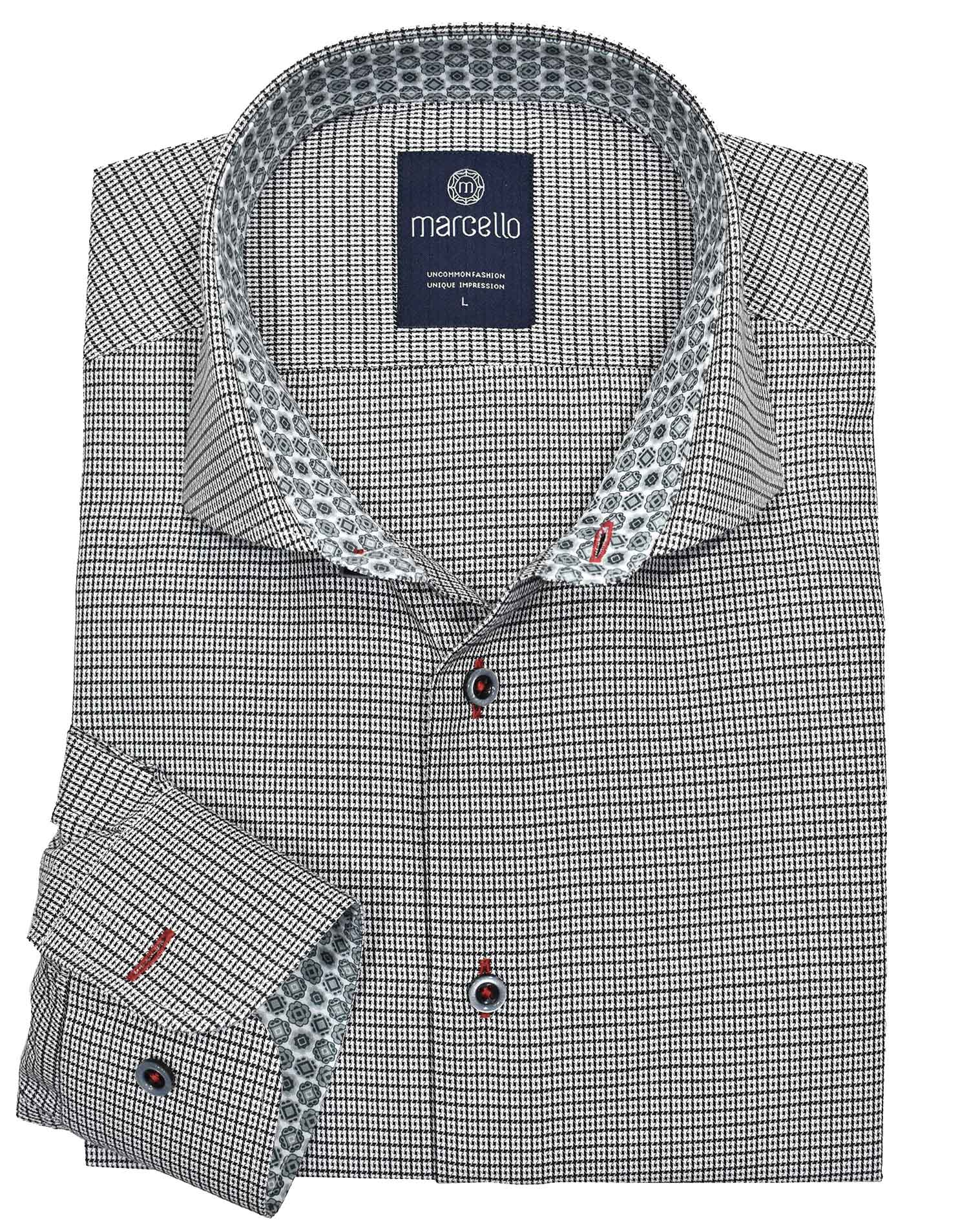 W256 Checkbox Sport Shirt - Marcello Sport