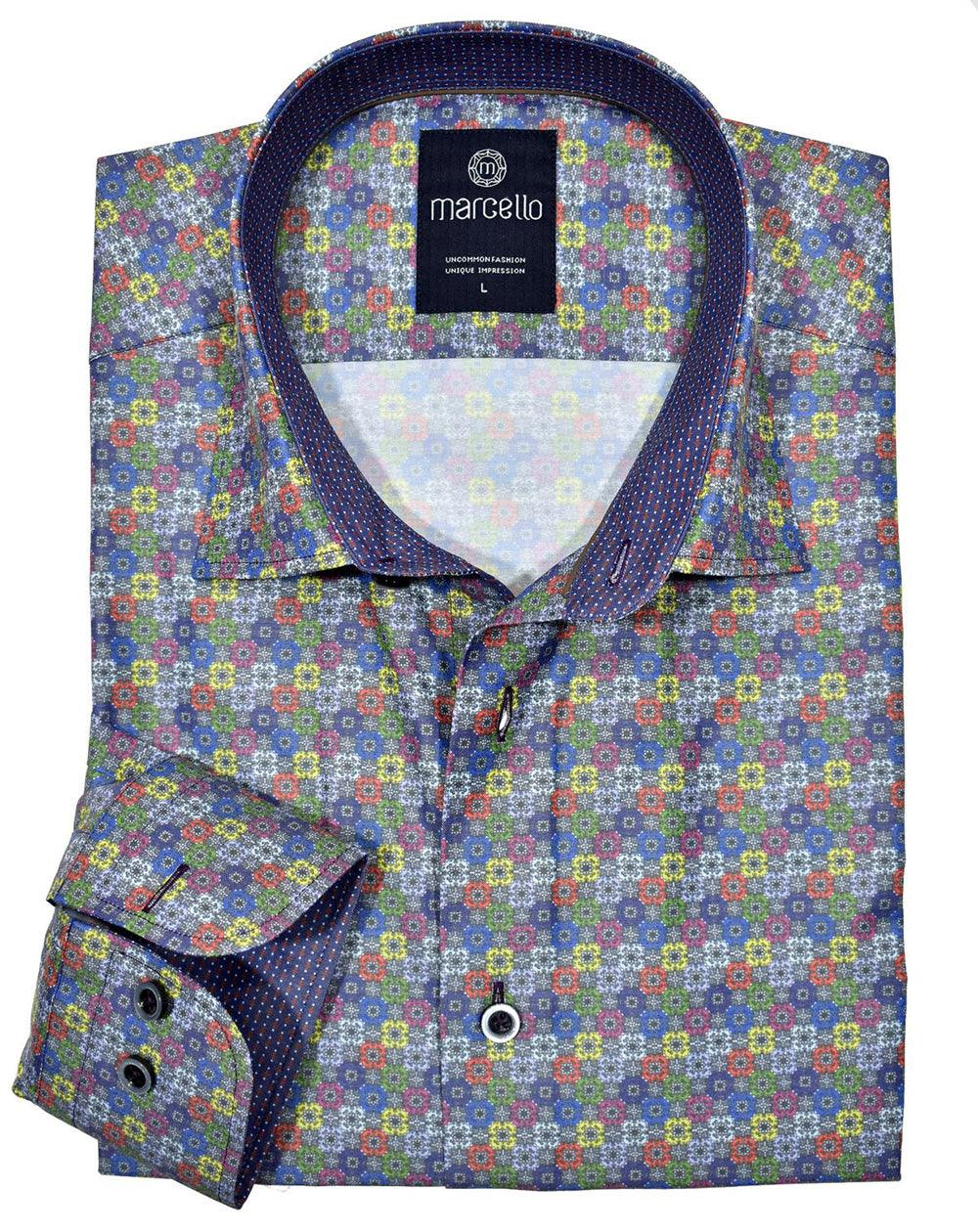 W356 Multi Medallion Print Shirt