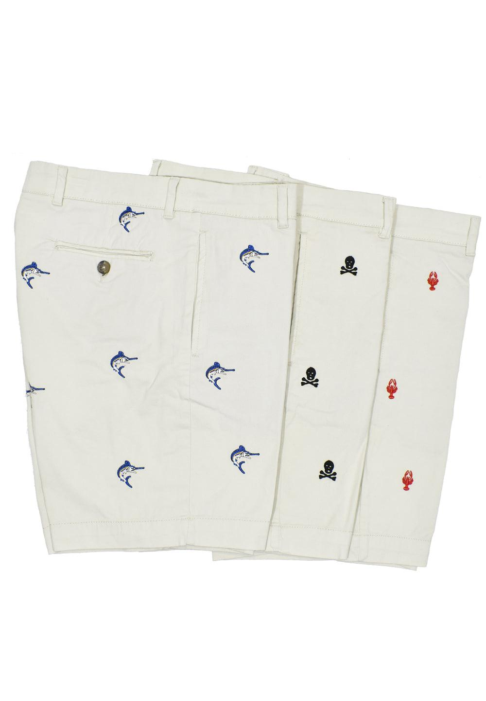 ZB27 Stretch Twill Embroidered Shorts