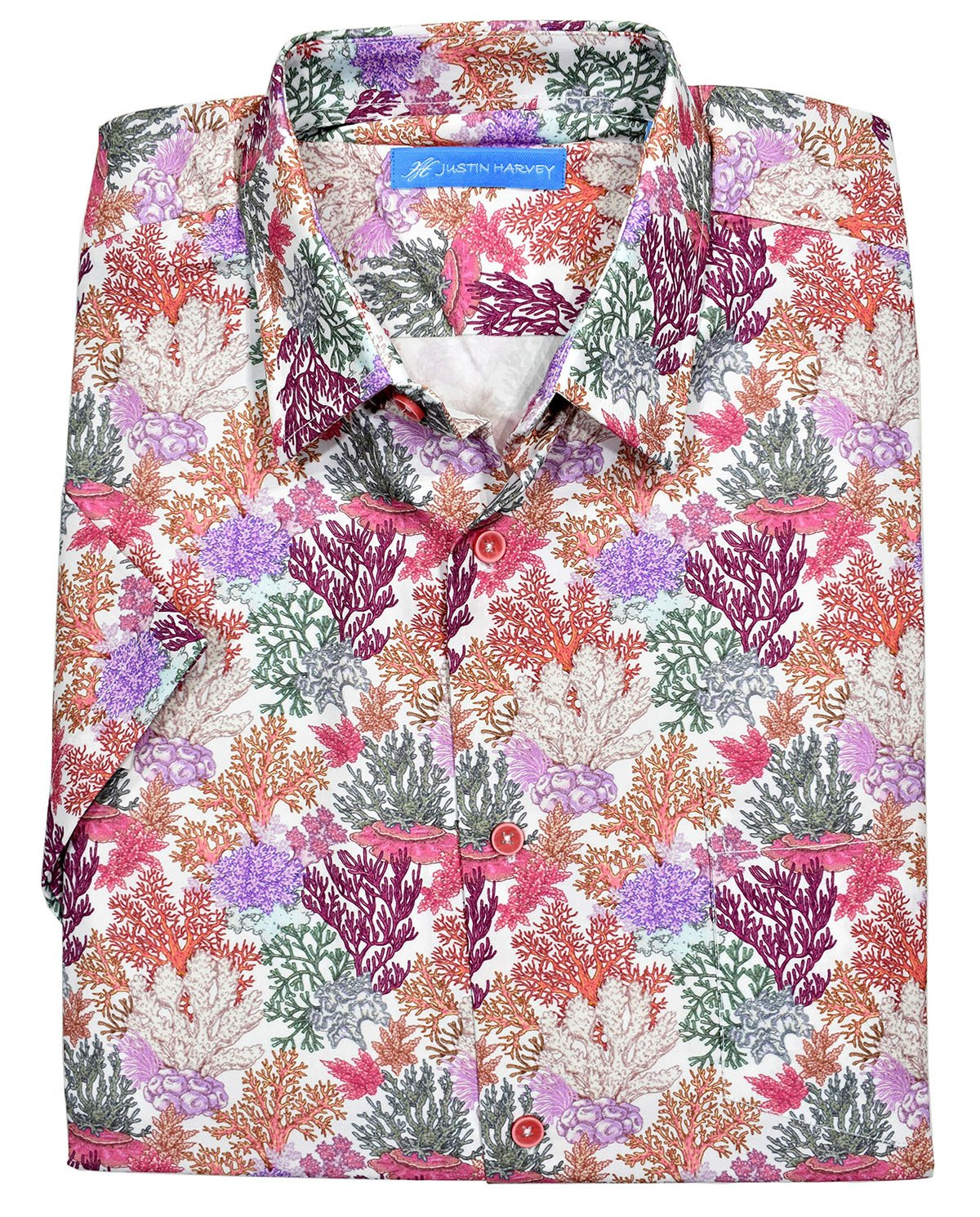 ZW130 Justin Harvey Exclusive Print Pattern Coral Garden - Marcello Sport