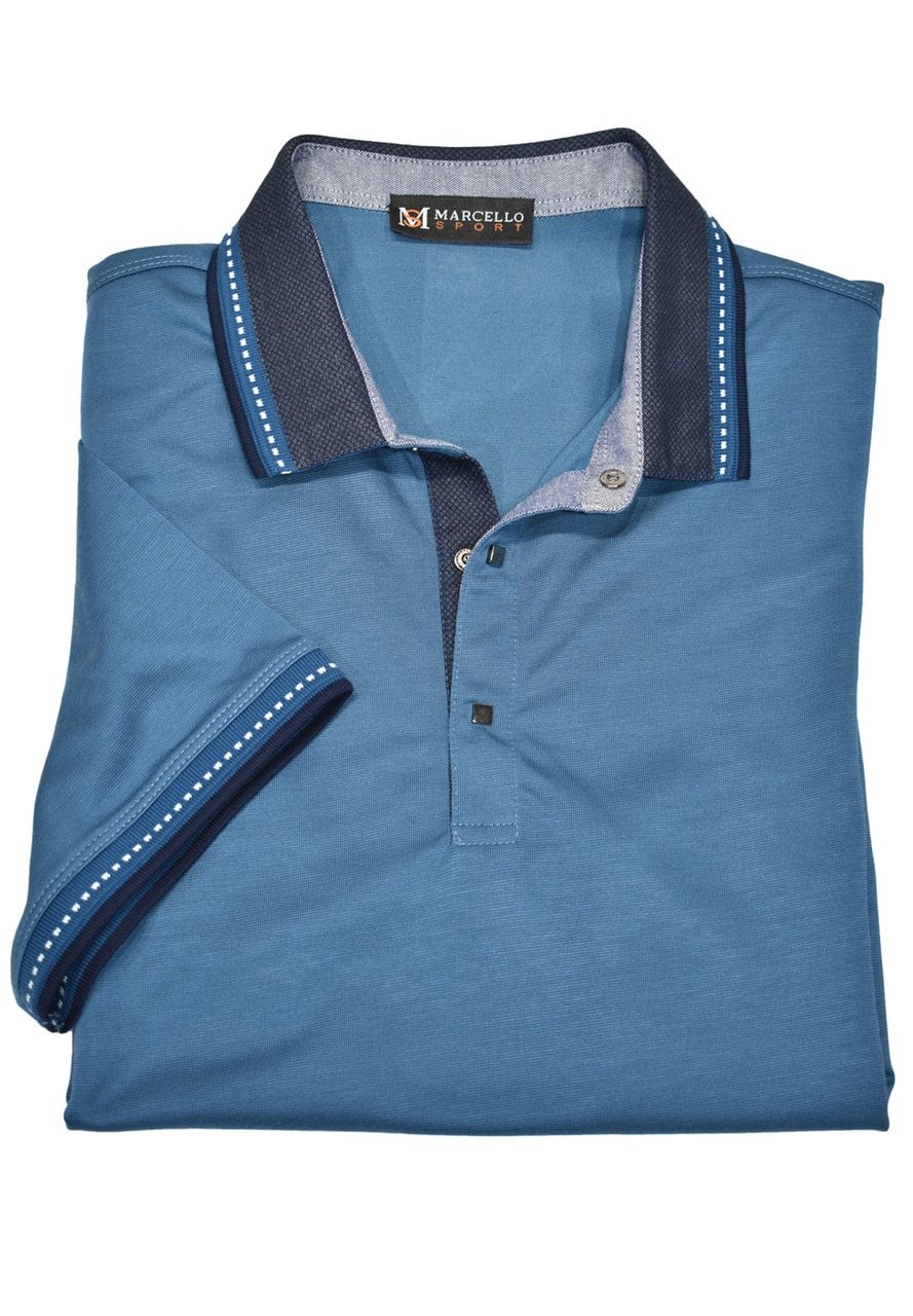 401 Performance Lux Mens Polo Shirt - Marcello Sport
