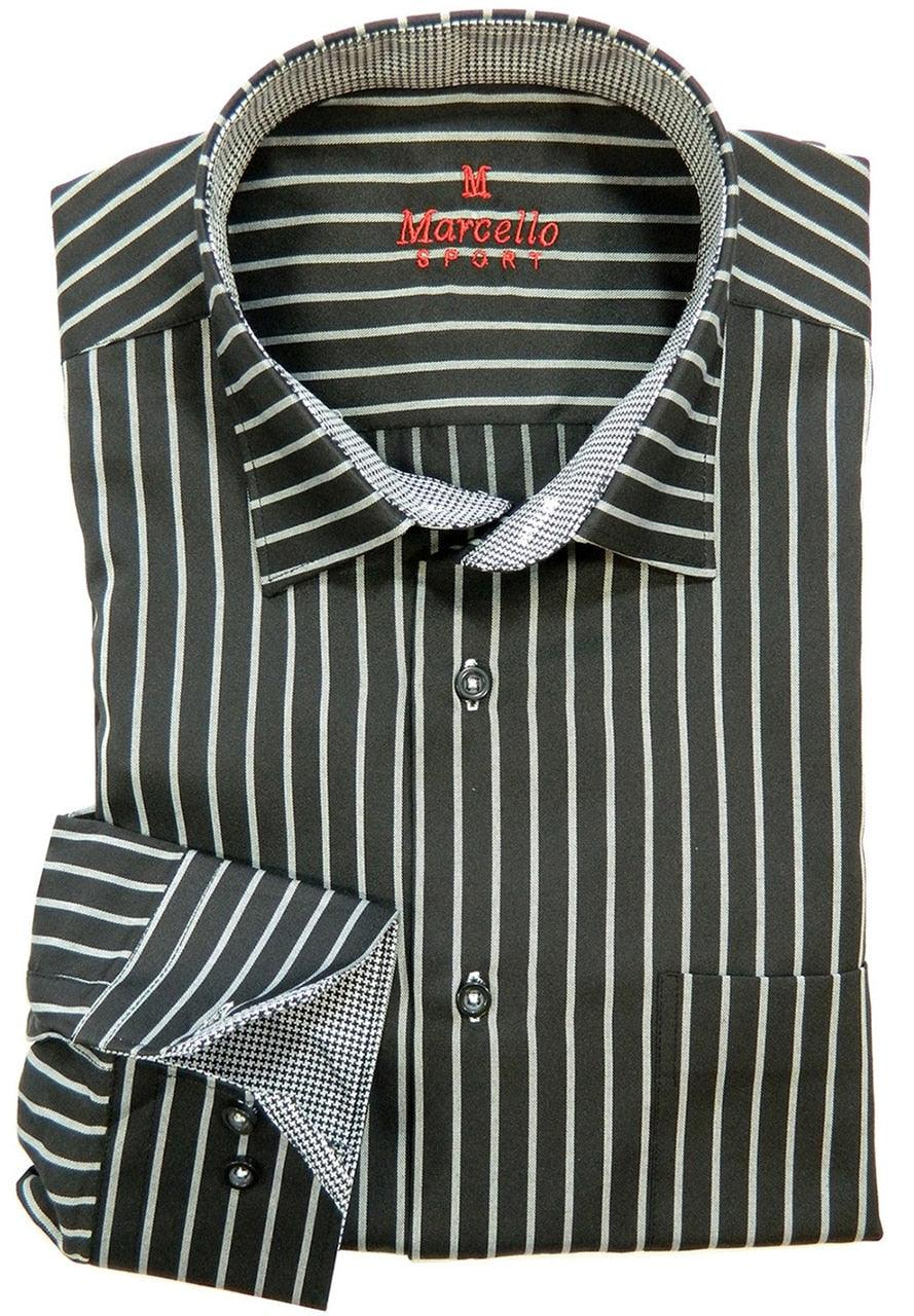 WS04 Marcello Sport Performance Stripe Dress Shirt - Sport Mens Shirt 3 Colors