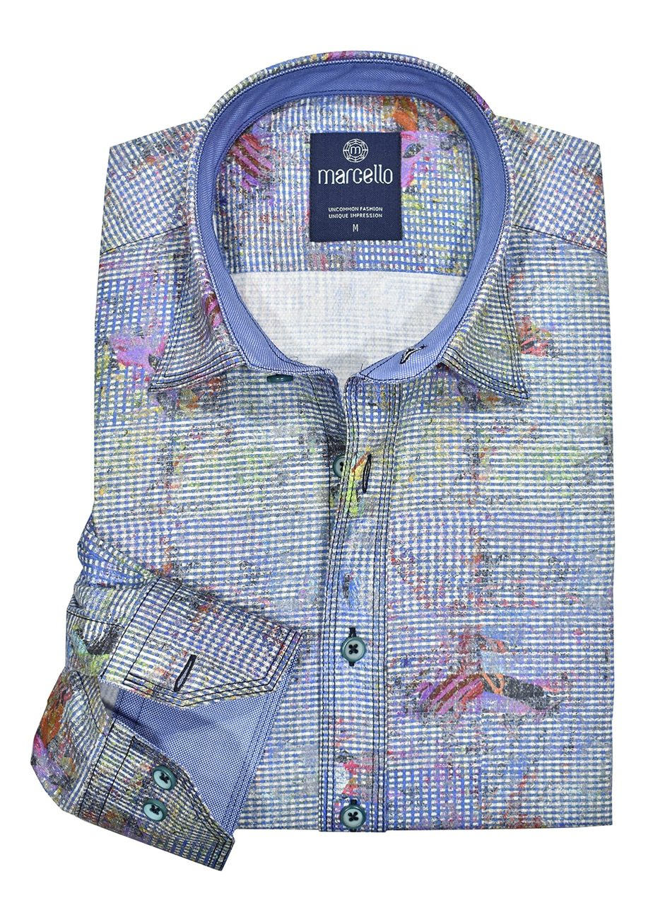 W1000 Cotton Triple Stitch Venezia Shirt - Marcello Sport