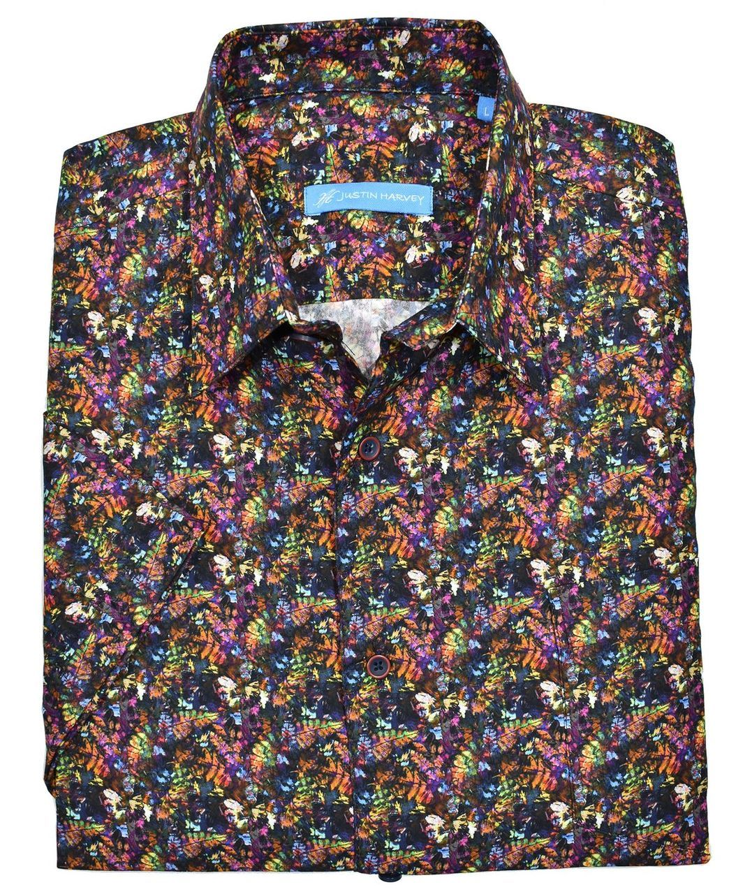 ZW124 Fall Leaves Cotton Shirt - Marcello Sport
