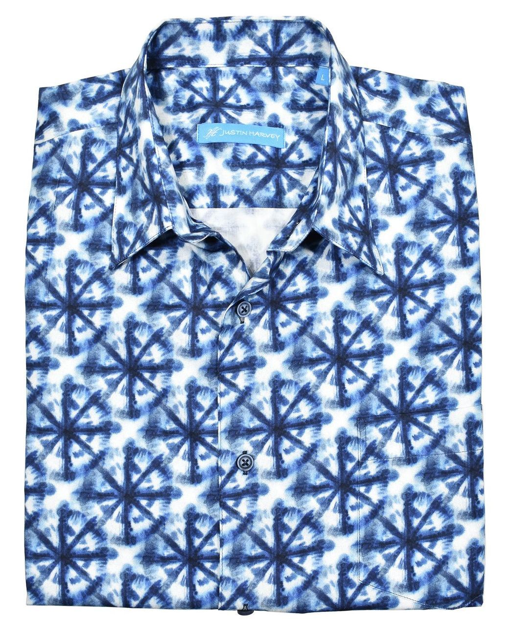 ZW131 Peace of Blue Cotton Shirt - Marcello Sport