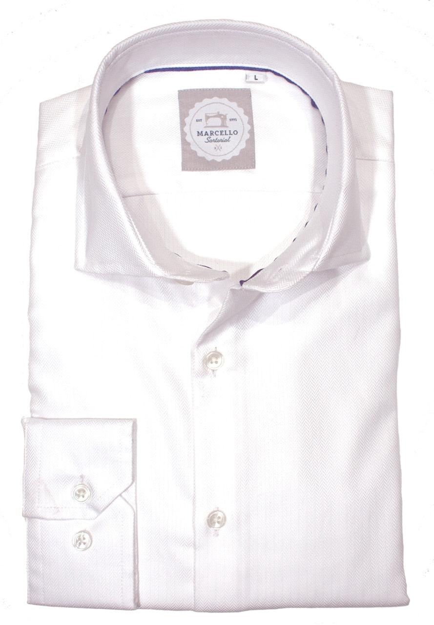 WS32 Justin Harvey Herringbone Mens Shirt