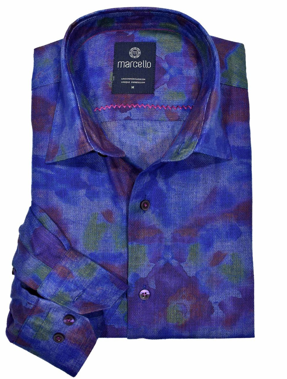 W1085 Colored Hopsack Shirt - Marcello Sport