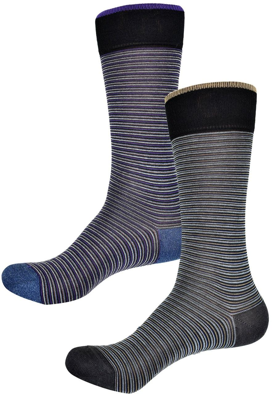 ZD0118 Fine Stripe Socks (Gold or Plum)