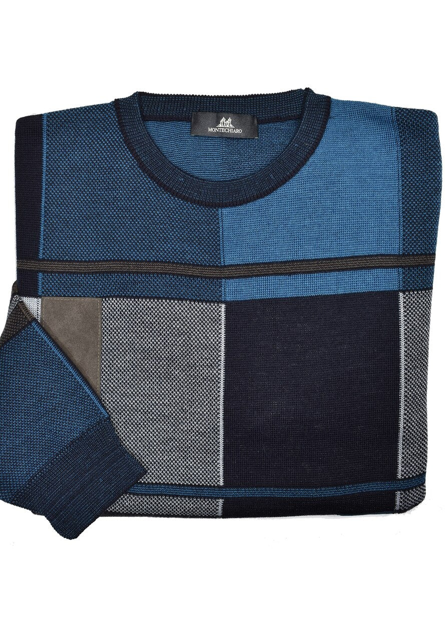 ZM6227 Italian Marine Color Block Sweater - Marcello Sport