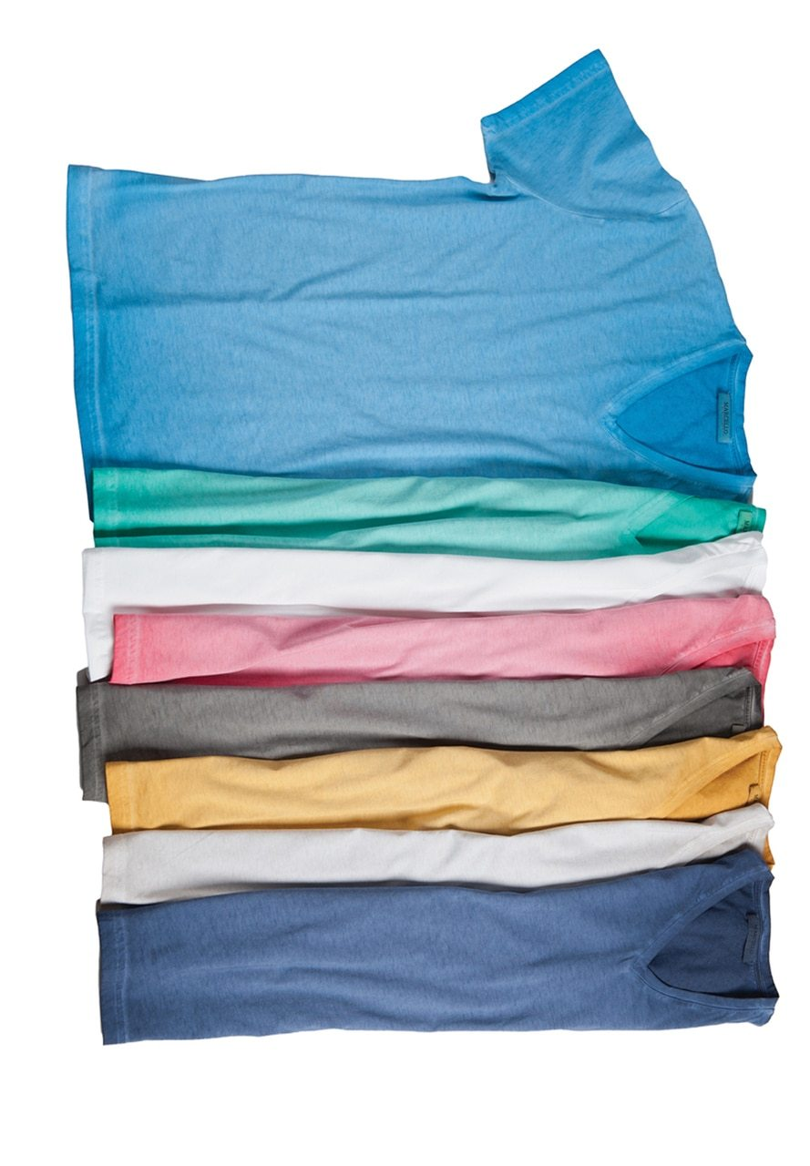 677V Men's Tea Stained Tee 8 colors - Marcello Sport