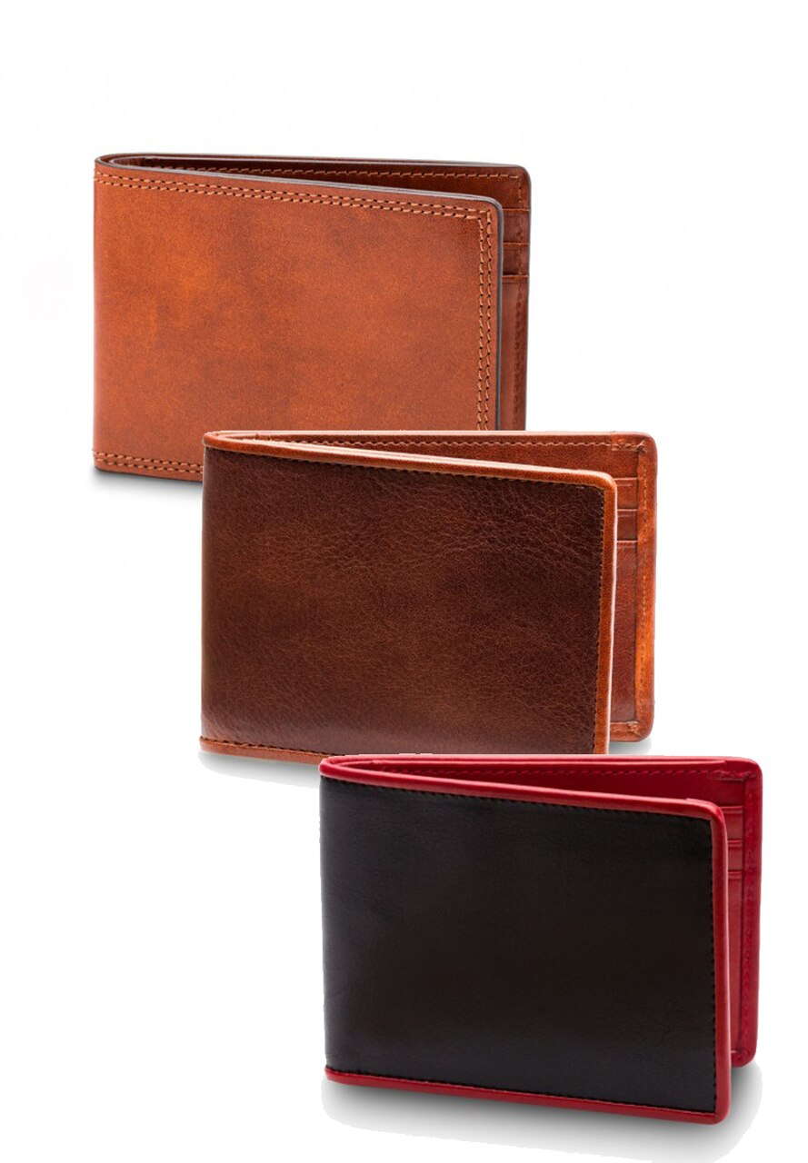 ZB81 Bosca Leather Bifold Wallet - Marcello Sport