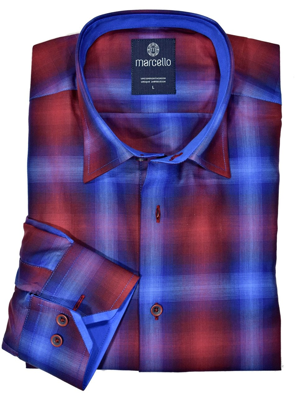 W048 Autumn Ruby Plaid - Marcello Sport