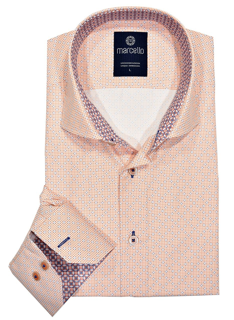 W1071 Mango Neat Easy Care Shirt - Marcello Sport