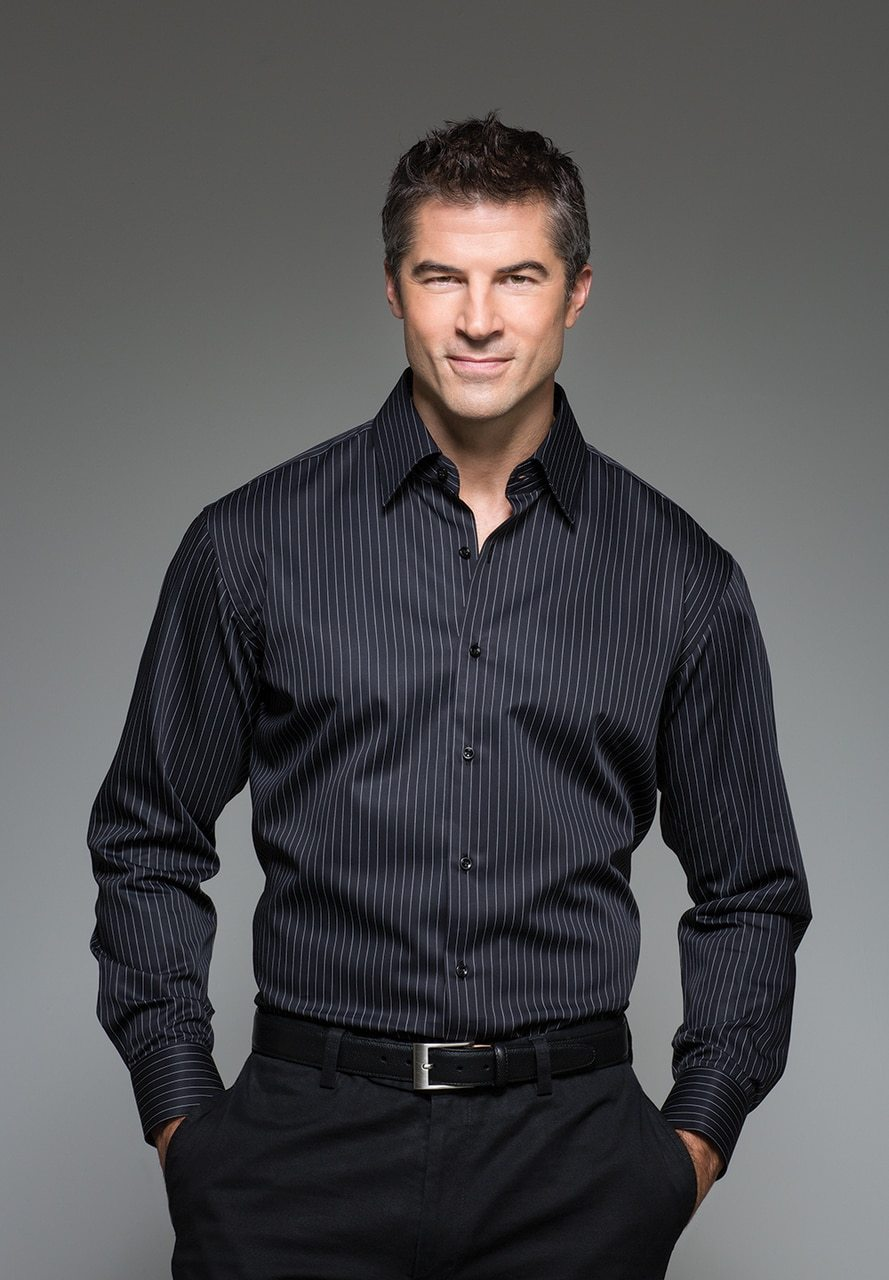 ZW002 Justin Harvey Sequel Black or White Mens Shirt - Marcello Sport