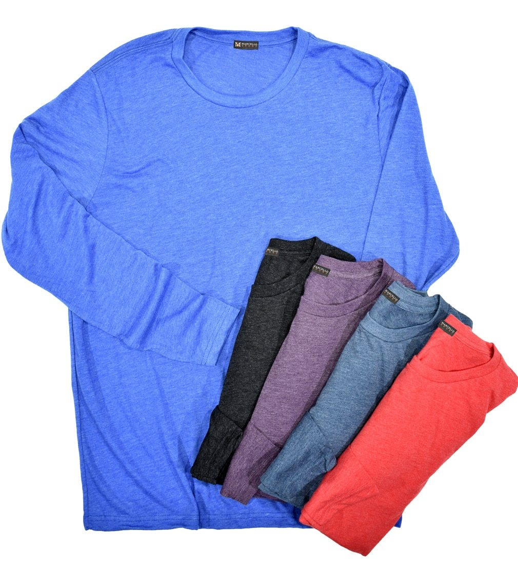 672L Tri Blend Long Sleeve Tee - Marcello Sport