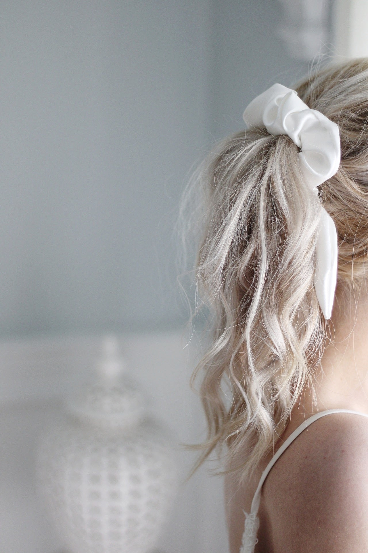Styling your hair with a luxurious scrunchie