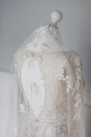 how to clean and store your wedding veil