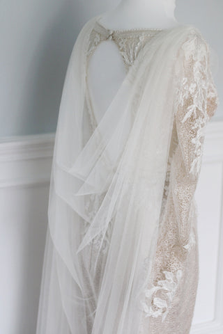 draped wedding cape by megan therese