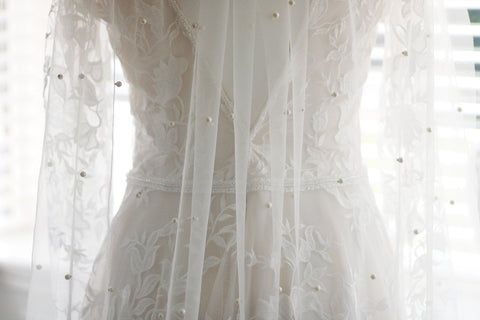 how to wash your wedding veil