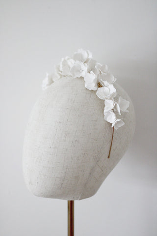 handmade clay flower crown for the romantic bride