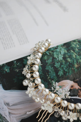bespoke wedding  headpiece by megan therese