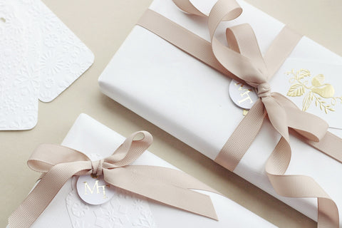 beautifully wrapped gifts for the bride