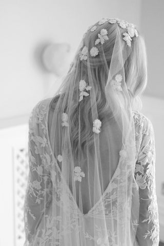 luxury handmade lace wedding veil by megan therese