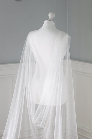 sparkling wedding dress cape by megan therese for bride