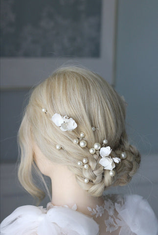 luxury pearl bridal pins for bride