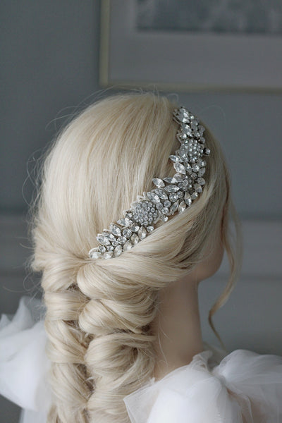 HEATHER | Luxury silver headpiece