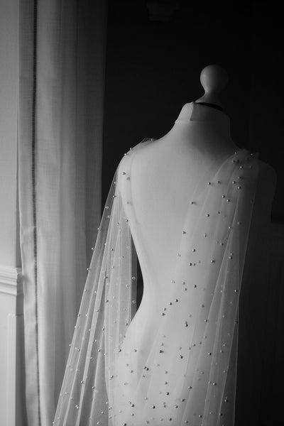PEARLS | ivory bridal cape