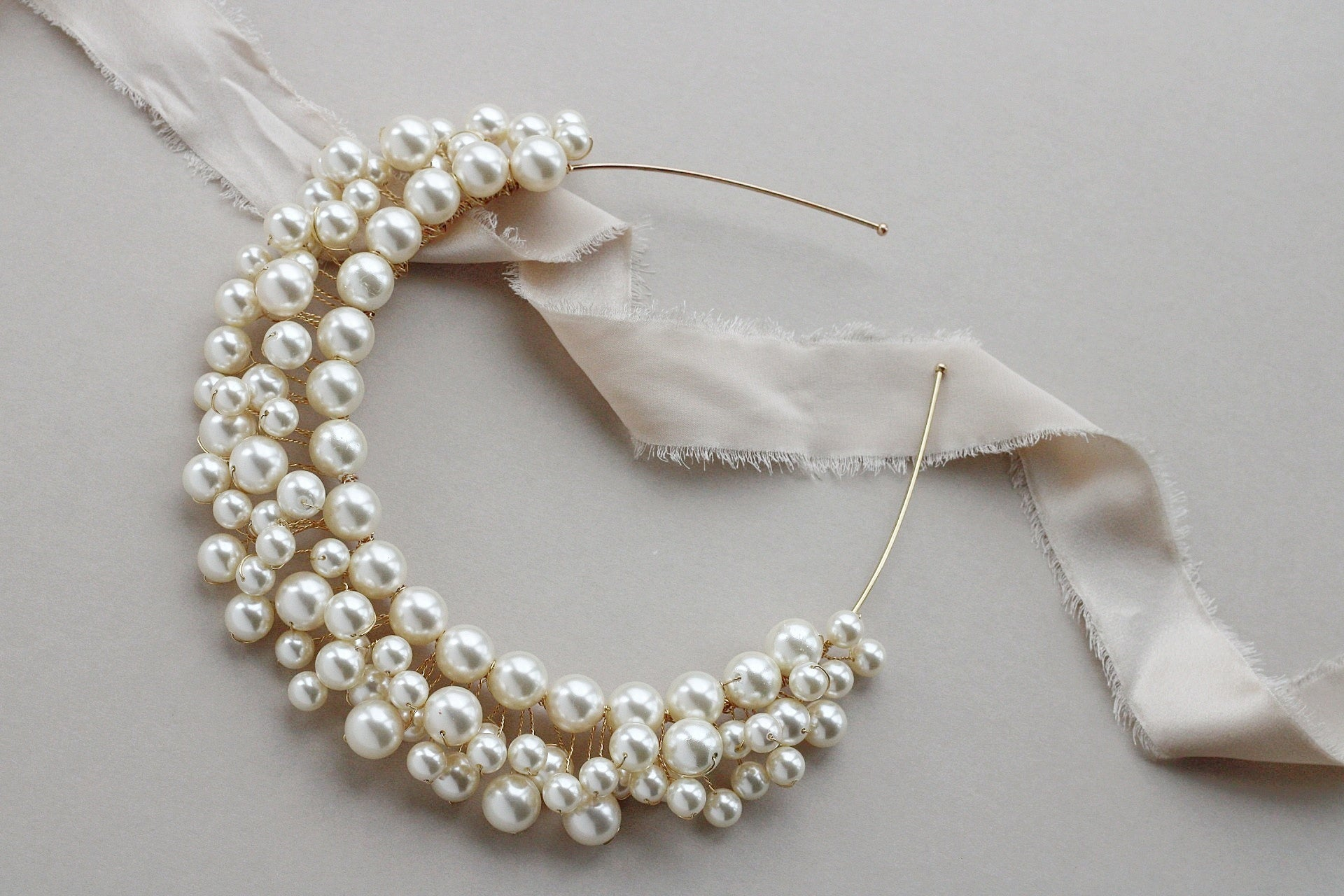 FRANCESCA | statement pearl crown