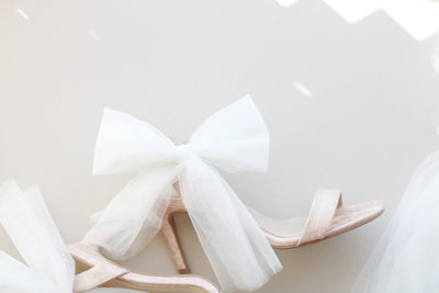 Bridal shoe bows
