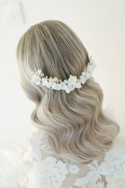 Luxury flowee wedding headpiece for romantic bride