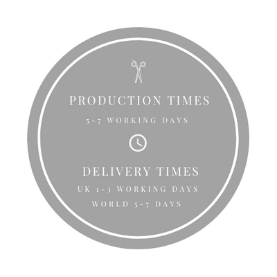 production times for handmade garters